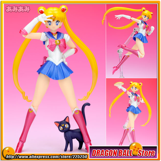 Japanese Anime Pretty Guardian Sailor Moon Original BANDAI Tamashii Nations SHF / S.H.Figuarts Action Figure - Sailor Moon sailor moon figures tsukino usagi 20th anniversary pvc action anime cartoon zero pretty guardian collectible toy 21cm