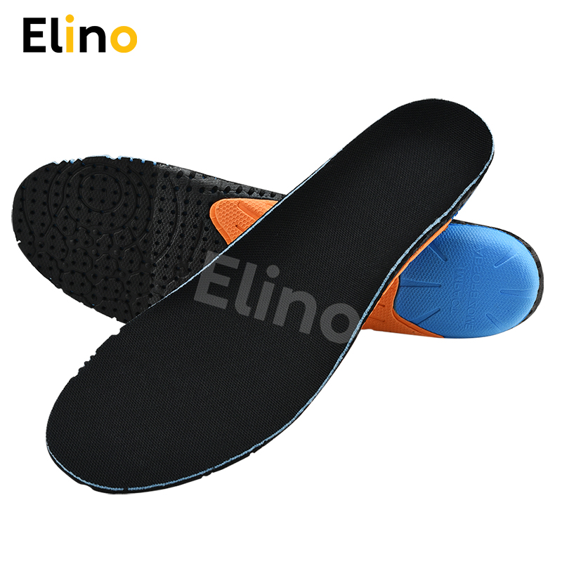 Elino EVA Anti-slip Shock Absorption Deodorant Sport Insoles for Men Women Plantar Fasciitis Sneakers Casual Shoes Pads Inserts image
