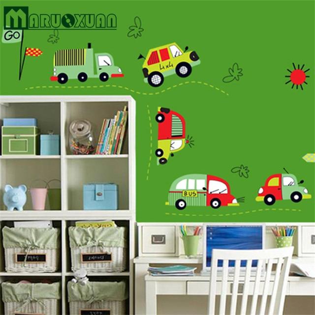 Car Cartoon Childrenu0027s Room Wall Stickers Nursery Classroom Decoration Stickers  Boys Bedroom