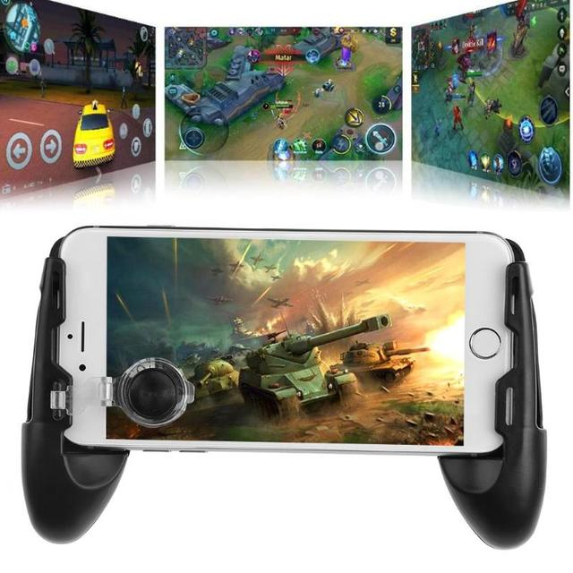ALLOYSEED 3 in 1 Joystick Grip Extended Handle Game Controller Sucker Gamepad Mobile Phone Holder for 4.5-6.5 inch smart phone