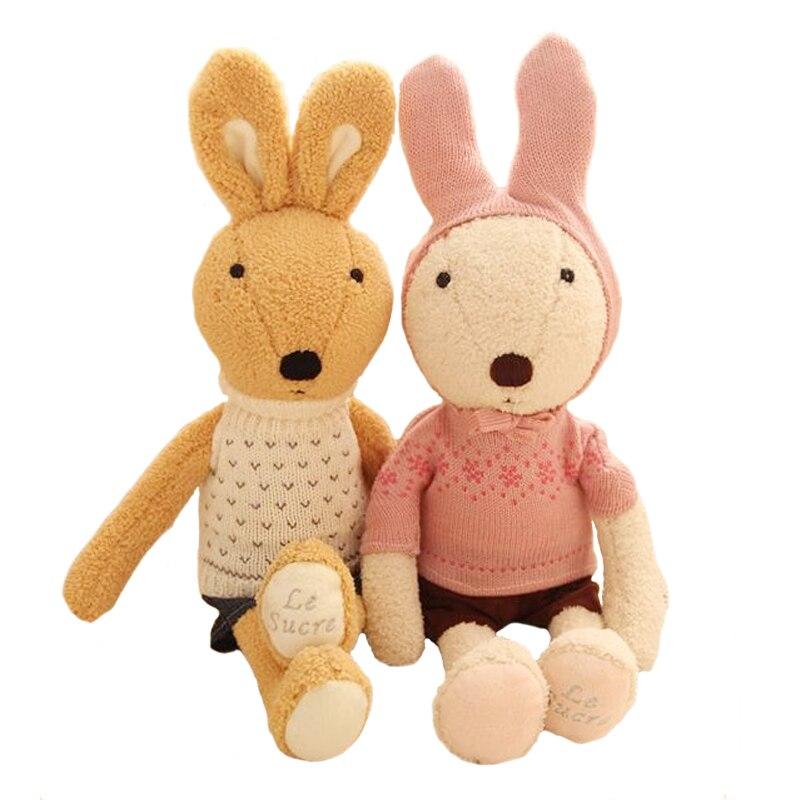 1 stücke 30 cm Le sucre zucker kaninchen plüschtiere Pullover paare zucker kaninchen spielzeug puppe Ein geburtstagsgeschenk