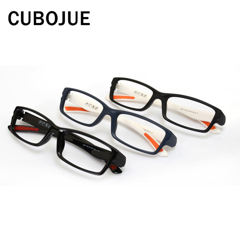 d3e48768516 Cubojue TR90 Glasses Frame Men Women Sport Style Wide Temple Ultra light Eyeglasses  Frames for Prescription Man Optical Lens-in Eyewear Frames from Apparel ...