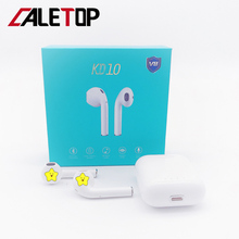 CALETOP TWS 5.0 Bluetooth Earphone KD10 Hifi Stereo Bass Sound Earbuds with Microphones Support Wireless Charging Touch Control