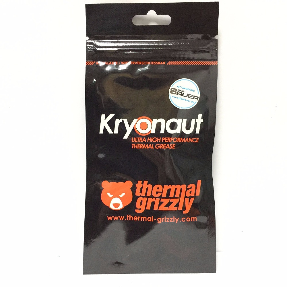 Thermal Grizzly Kryonaut 1G 11CPU AMD Intel processor Heatsink fan Thermal compound Cooling Thermal paste Cooler Thermal Grease 73w mk grizzly bear liquid metal for thermal grizzly conductonaut 1g diy silicon grease for cpu gpu graphics card easy to cool