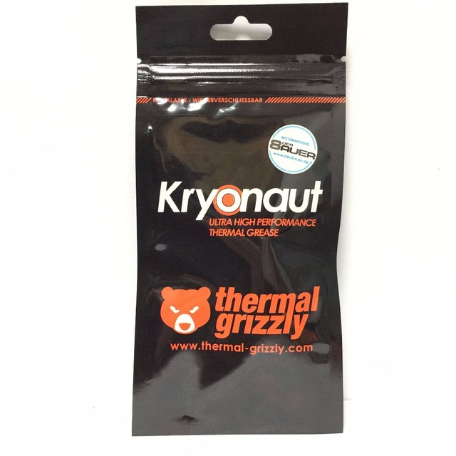 Thermal Grizzly Kryonaut 1G 11CPU AMD Intel processor Heatsink fan Thermal compound Cooling Thermal paste Cooler Thermal Grease