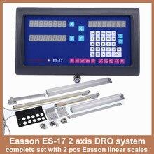 Высокая точность easson es-17 полный набор 2 оси цифровой индикации УЦИ токарный станок фрезерный станок и цифровой линейный слайд