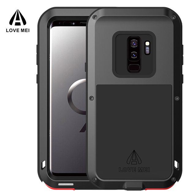 online store 9d5aa cb718 US $32.99 |Love Mei for Galaxy S9 Plus Case Proof Metal Armor Shockproof  Case for Samsung S9 Plus Aluminum Cover for Samsung Galaxy S9 Case-in  Fitted ...