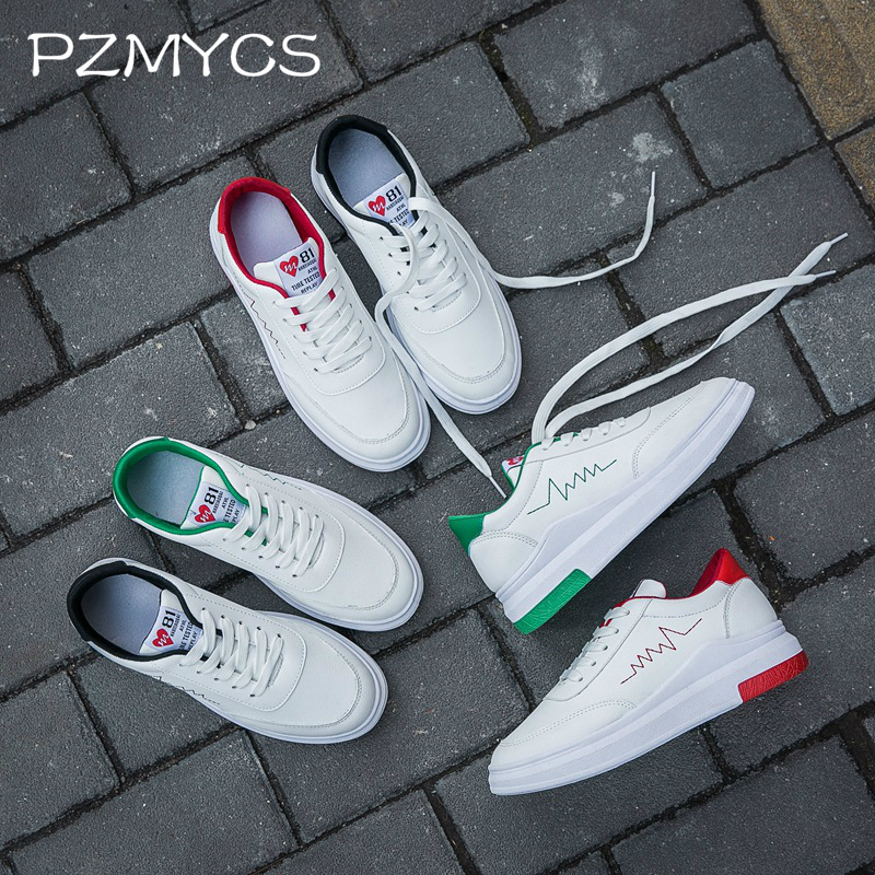 PZMYCS 2018 Fashion Women Vulcanized Shoes Sneakers Ladies Lace-up Casual Shoes Breathable Walking Graffiti Flat
