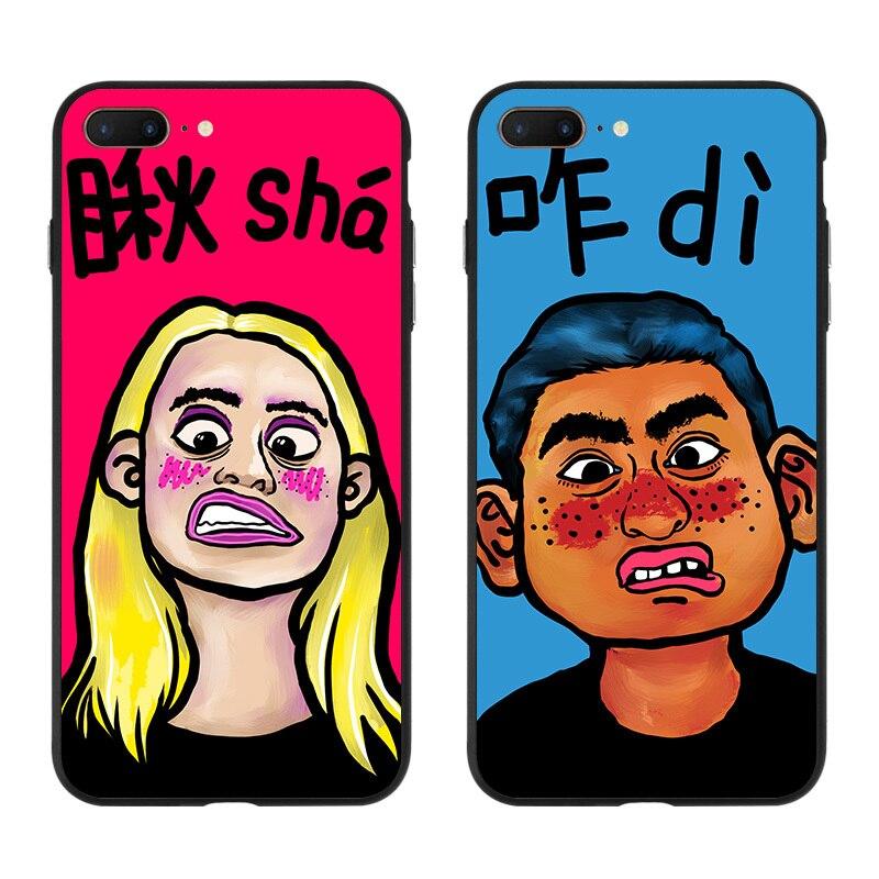 Y-ZU чехол для телефона iPhone 6 6S 7 8 Plus x личность оригинальность ручной В виде ракушки любителей Для мужчин и Для женщин силиконовые край защиты