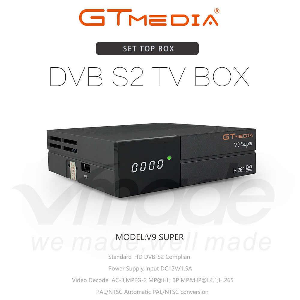 GTMedia Freesat V9 Максимальное разрешение Full HD H.265 DVB-S2 декодер-цифра спутниковый телевизионный ресивер же Встроенный Wi-Fi, V8 Nova 1 год Европа Cccam строку бесплатно