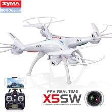 Syma x5sw wifi rc zangão fpv quadcopter com câmera headless 2.4g 6-axis de controle remoto em tempo real helicóptero quadcopter brinquedo