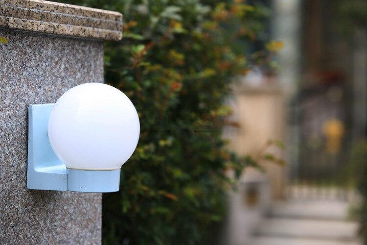 Palla rotonda lampada da parete esterna impermeabile giardino