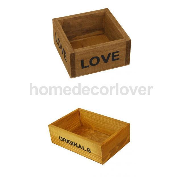 Garten Box 2x vintage holz blumentopf holz blumentopf sukkulenten blumenkasten