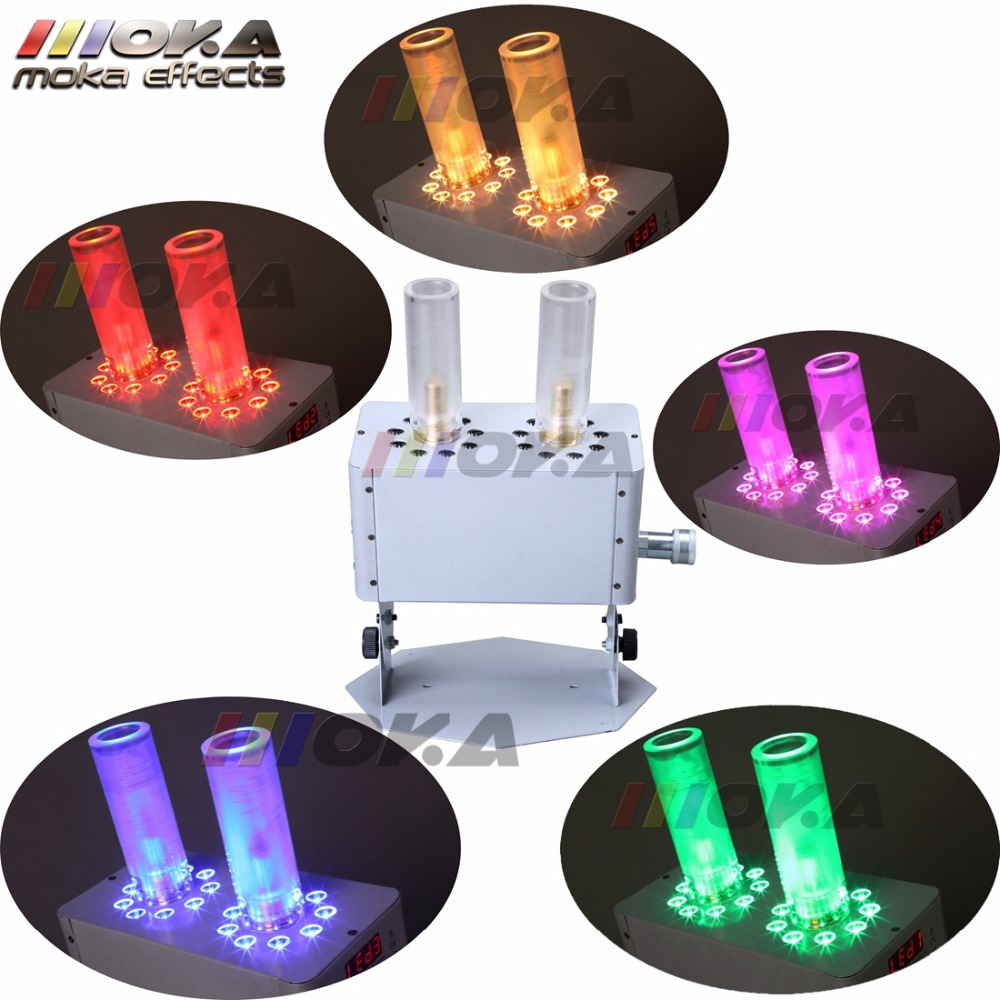 New arrival MOKA Stage DMX CO2 Jet machine Disco effects with 18 LED RGB Stage lighting CO2 Fog Machine For Weeding Parties