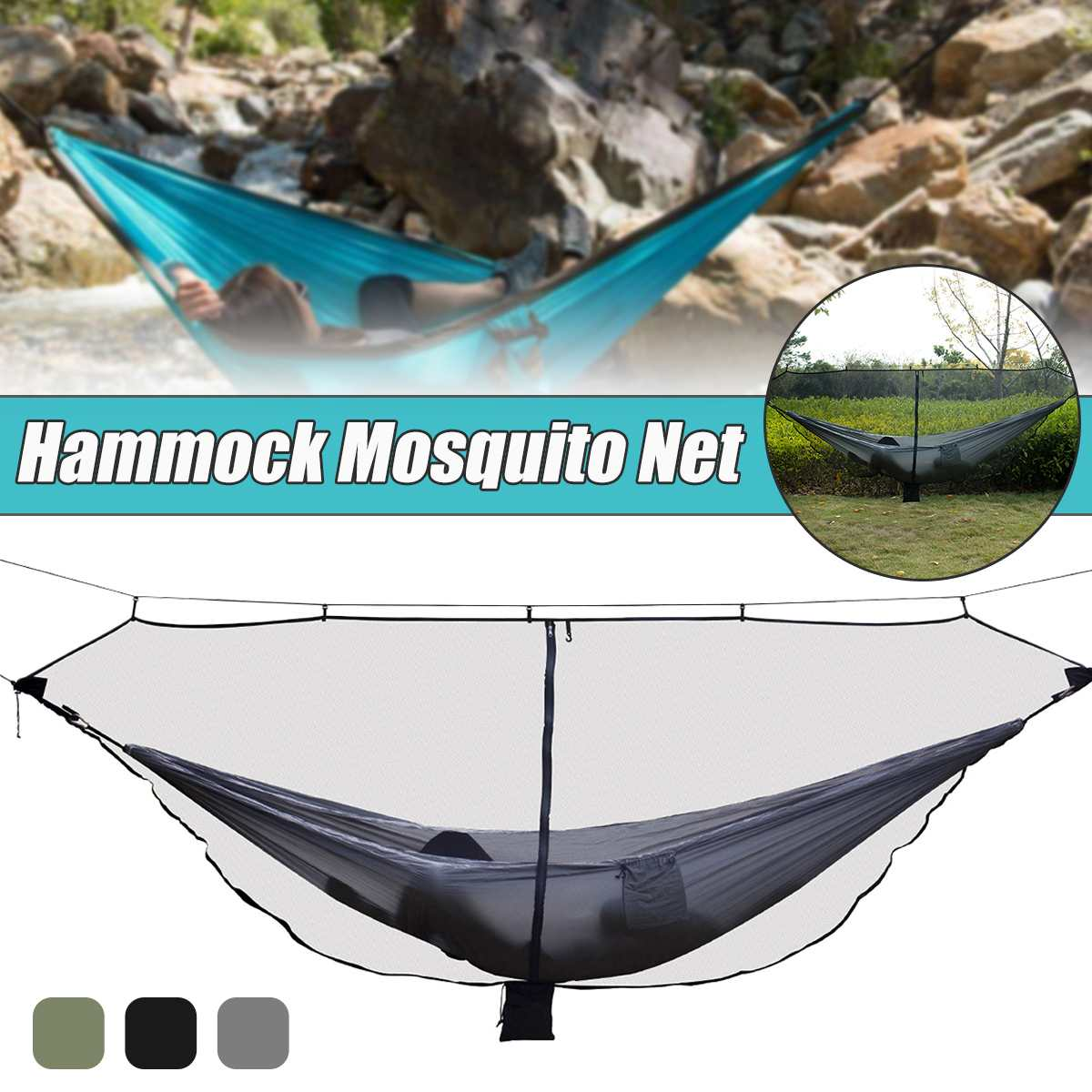 1 2 Person Separate Hammock With Mosquito Nets Outdoor