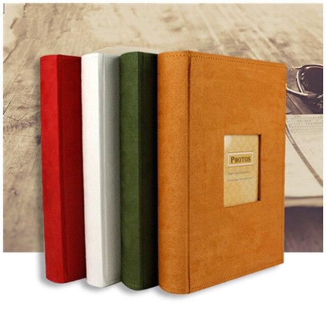 Chèn 6 inch album ảnh 300 hình ảnh kỷ niệm album 4 màu sắc flannel bìa với lưu ý có thể được bằng văn bản
