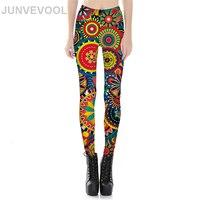 Retro Vogue Legging Women Hot Sale 3D Printing Patchwork Colourful Leggings Ladies New Arrival Elastic Sexy