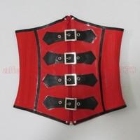 Red and Black Heavy Rubber Latex Women Corset Waist Cincher Bustier Corpetes E Espartilhos LCC018