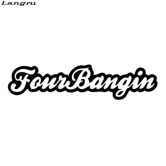 Langru New Design Car Sticker Funny Lowered Personality Car