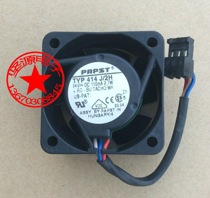 ebmpapst 414 J/2H DC 24V 2.7W   40x40x25mm Server Square  Fan whitaker h halas j
