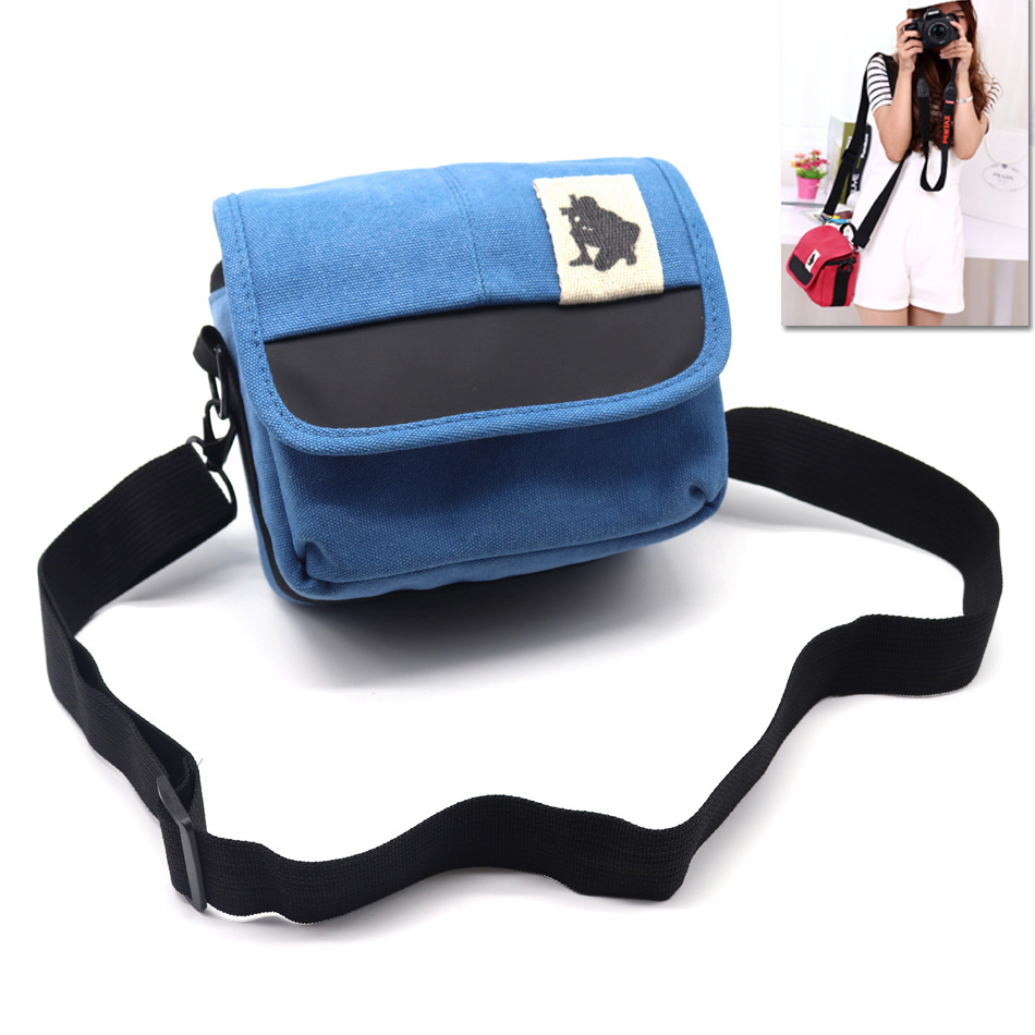 High Quality Canvas Camera Bag Case For Canon SX60 SX50 SX40 SX30 SX20 SX520 SX410 SX400 SX510 SX500 450D 600D 550D 18-55 Lens M