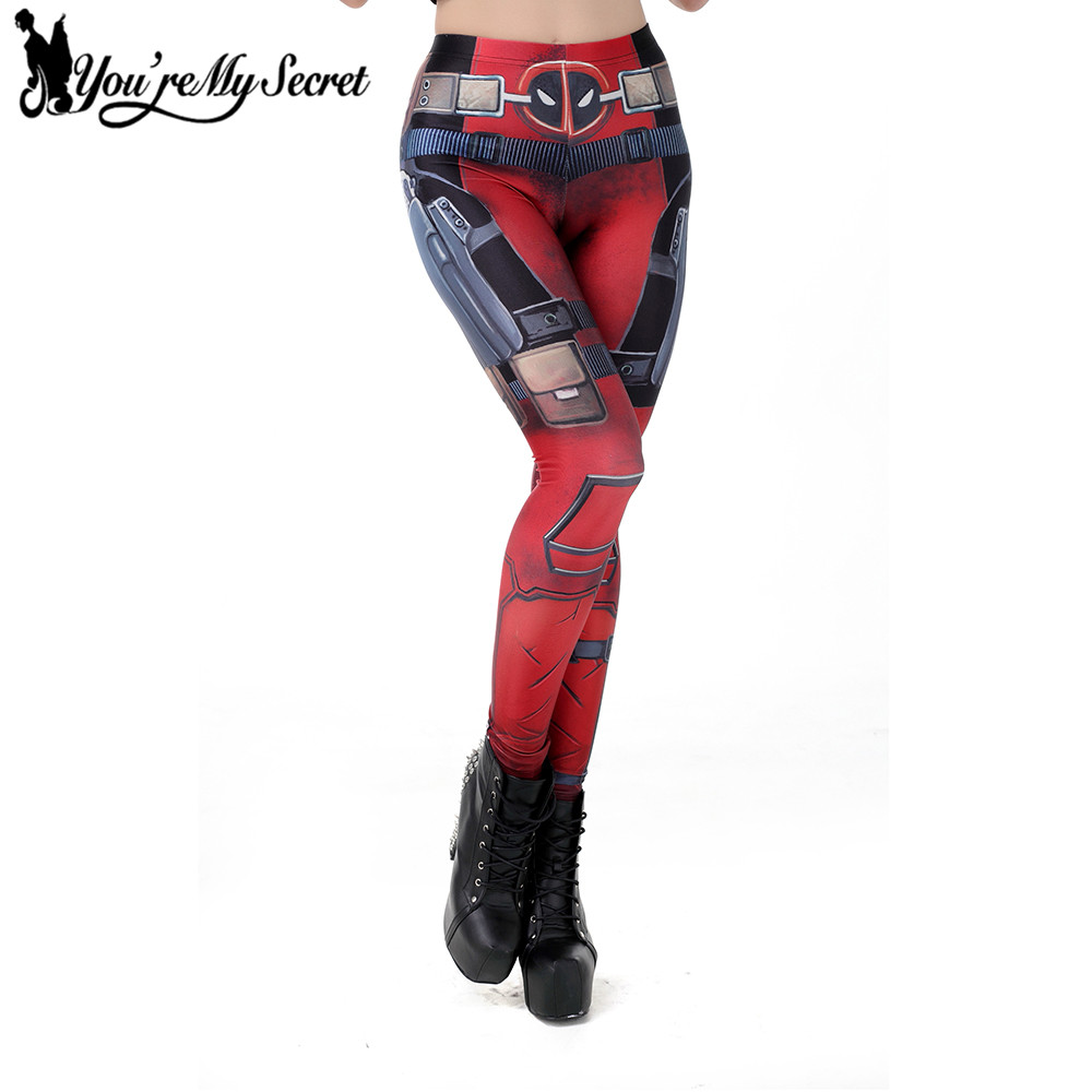[You're My Secret] Hot Sale Super HERO Deadpool Fitness Women Leggins Sexy Pant Star Wars Cosplay Digital Print Woman's Leggings