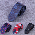 Mens Ties New Brand Man Fashion Paisley Dot Neckties Gravata Jacquard 6cm Slim Tie Corbatas Hombre 2016 Wedding Tie For Men