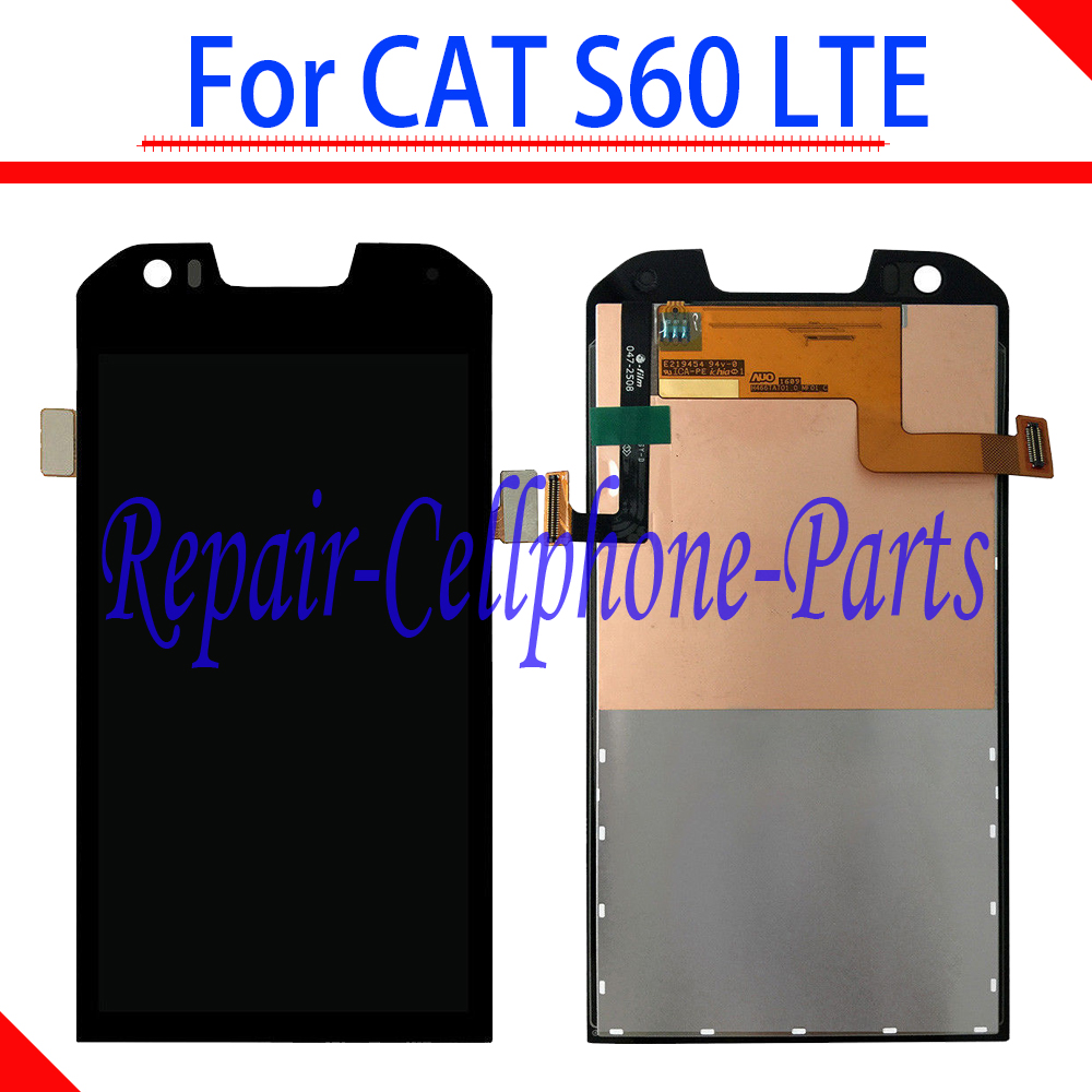 Original Black 100% Tested Full LCD DIsplay+Touch Screen Digitizer Assembly For Caterpillar CAT S60 LTE
