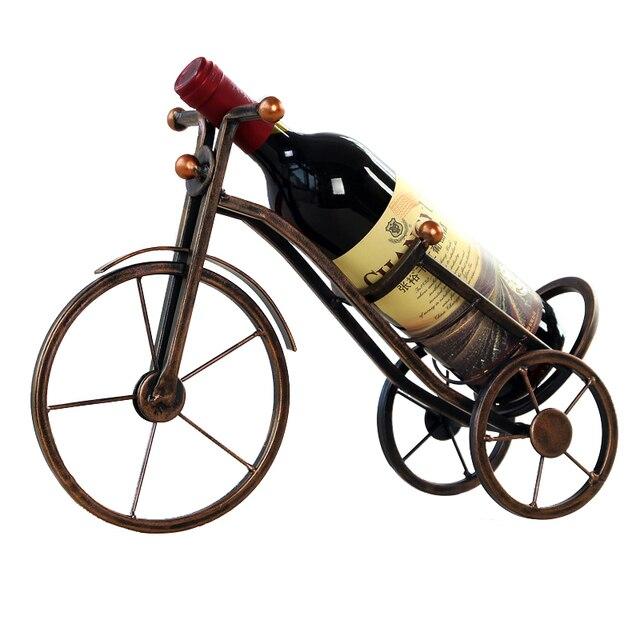 Vintage European Style Metal Tricycle Ornaments Display Wine Bottle