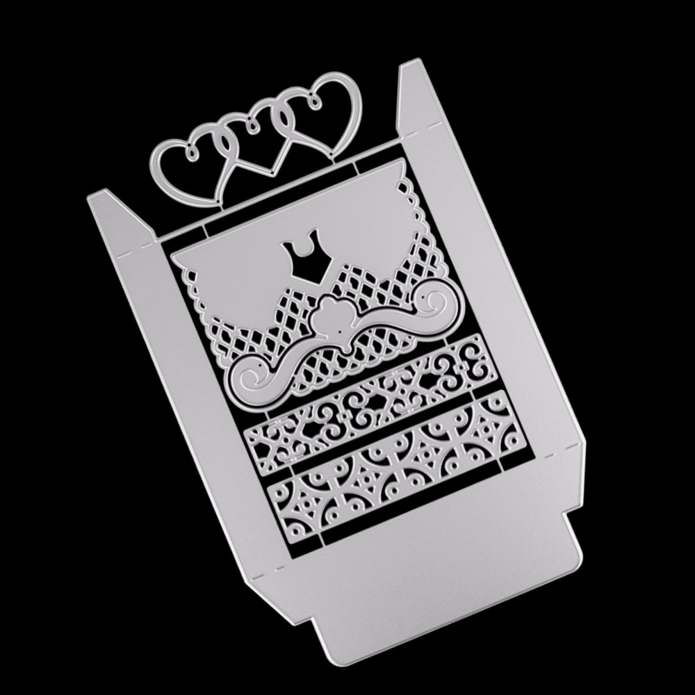 Metal Cutting Dies New 2018 Heart Decal Box Case Scrapbooking Embossing Decoration Craft Die Cut Stamp Paper Card Stencil in Cutting Dies from Home Garden
