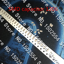 50 шт./лот керамический конденсатор SMD 1206 6PF 50 В 1KV 1000 В 6 P НПО 5% MLCC высоковольтный конденсатор без полярности