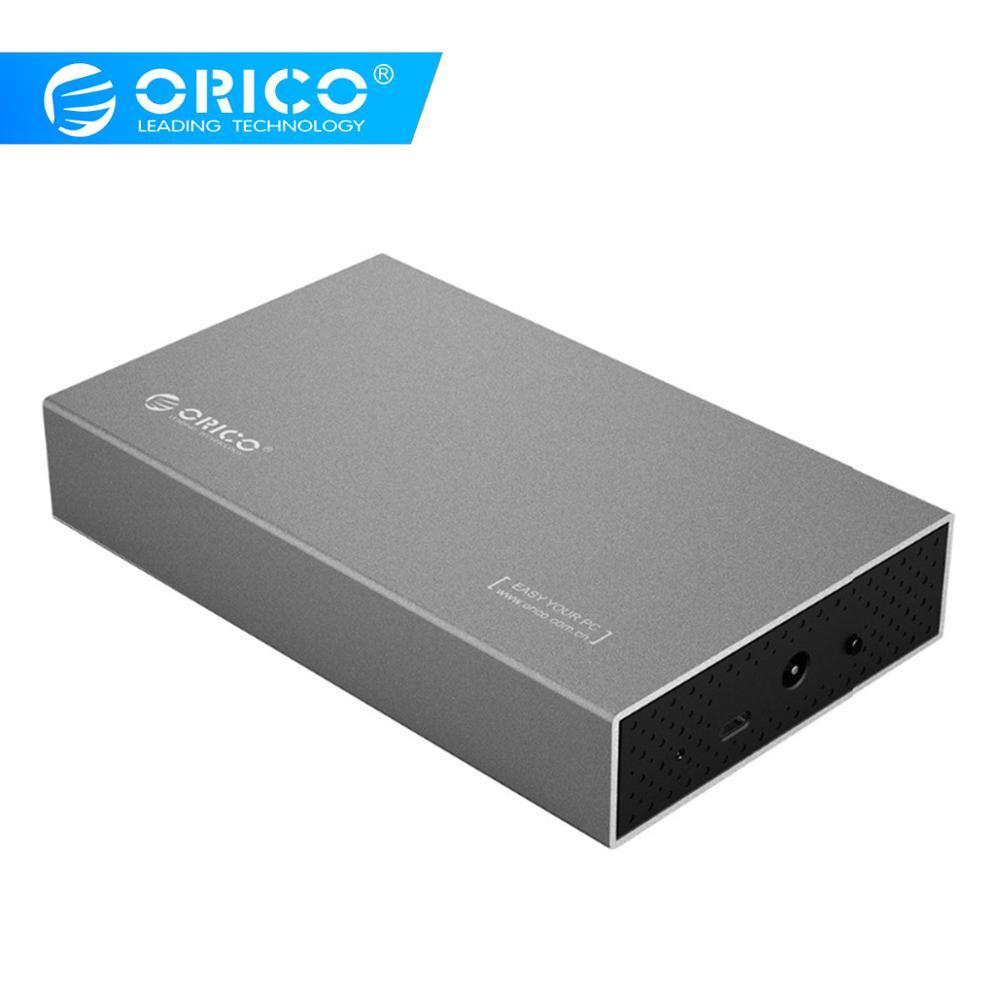 Boîtier disque dur ORICO boîtier disque dur 3.5 pouces adaptateur SSD USB3.1 vers boîtier disque dur SATA pour boîtier disque dur externe 1 to 2 to