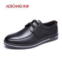 Aokang 2017 Autumn New Designer Men S Genuine Leather Shoes Men Black Business Pointed For Men