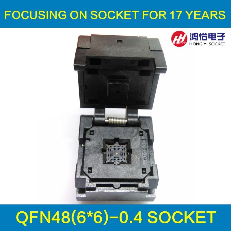 QFN48 0.4pin pitch IC Test Socket /Programmer Adapter / Burn-in Socket QFN48-0.4  ltc2203cuk pbf ic ацп 16 битный 25msps 48 qfn ltc2203cuk 2203 ltc2203 ltc2203c ltc2203cu 2203c