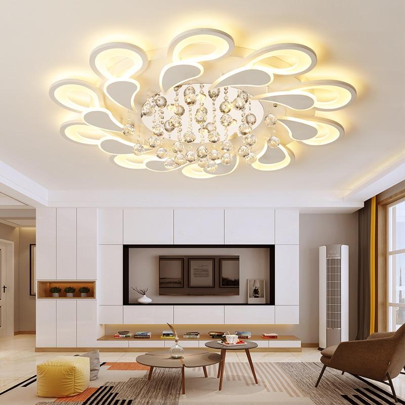 K9 คริสตัล LED หรี่แสงได้บ้านโคมไฟเพดานห้องนอนห้องนอนห้องนอนโมเดิร์นโคมไฟตกแต่งในร่ม-ใน โคมไฟระย้า จาก ไฟและระบบไฟ บน VeiHao Gemini Lighting Store