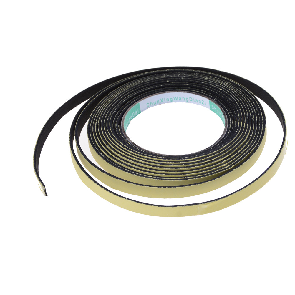 1Roll 5M*10MM EVA Single Sided Adhesive Tape Weather Sticky Stripping Sponge Foam Rubber Strip Neoprene Tape Door Seal 10mm 20m 0 5mm double sided black sticky sponge foam tape gasket for android machine mainboard tablet panel seal dust proof