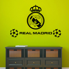 Hot Real Madrid Football Sport Wall Stickers Self Adhesive Wallpaper For Kids Rooms Bedroom Living Room wall Sticker Mural