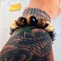 Натуральный Камень Strand Браслеты Тигровый Глаз Камни Мужчины Ювелирные Изделия Серый Природой Каменные Бусы Браслеты и Браслеты для Женщин 2016 Подарок