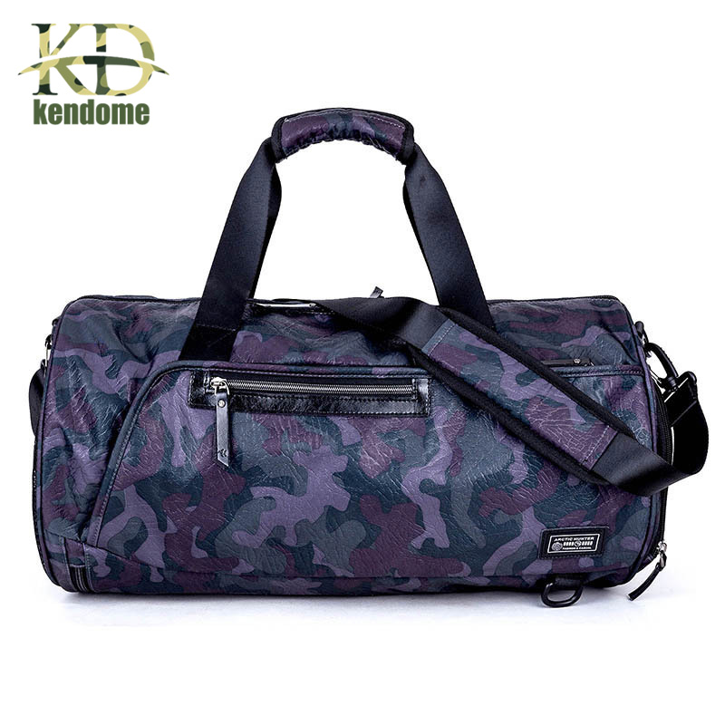 K&D Large Capacity Training Gym Sports Bag Waterproof Oxford Yoga Duffels Fitness Bags Multifunction Men Women Shoulder Handbag black simple style pu leather sports gym bag for men fitness shoulder handbags crossbody bags travel training duffle handbag
