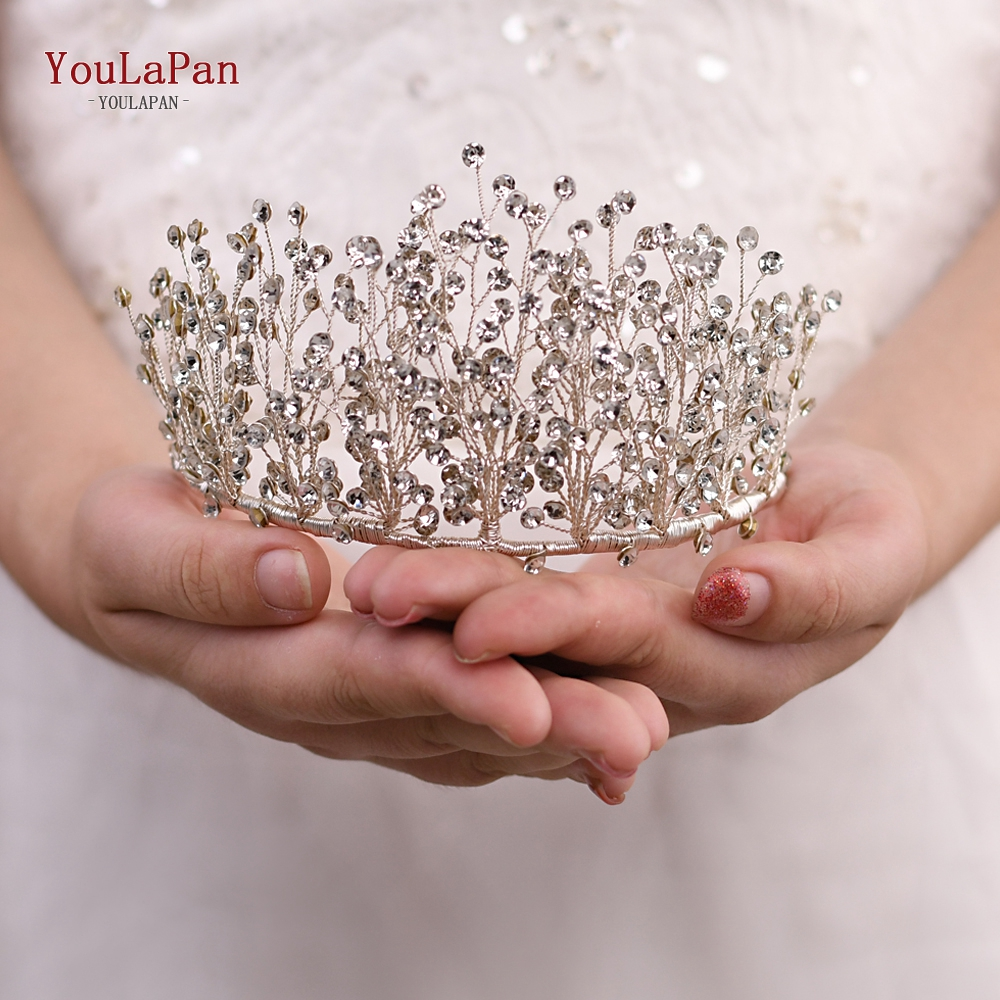 Купить с кэшбэком YouLaPan HP193-S little wedding crown children's headband high quality bridal headband silver bridal headband for women