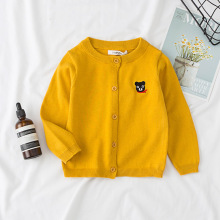 Children Sweaters New Fall Winter Bear Cartoon Baby Boys Girls Cardigan Autumn Toddlers Knitwear Sweater Kids Tops Clothes