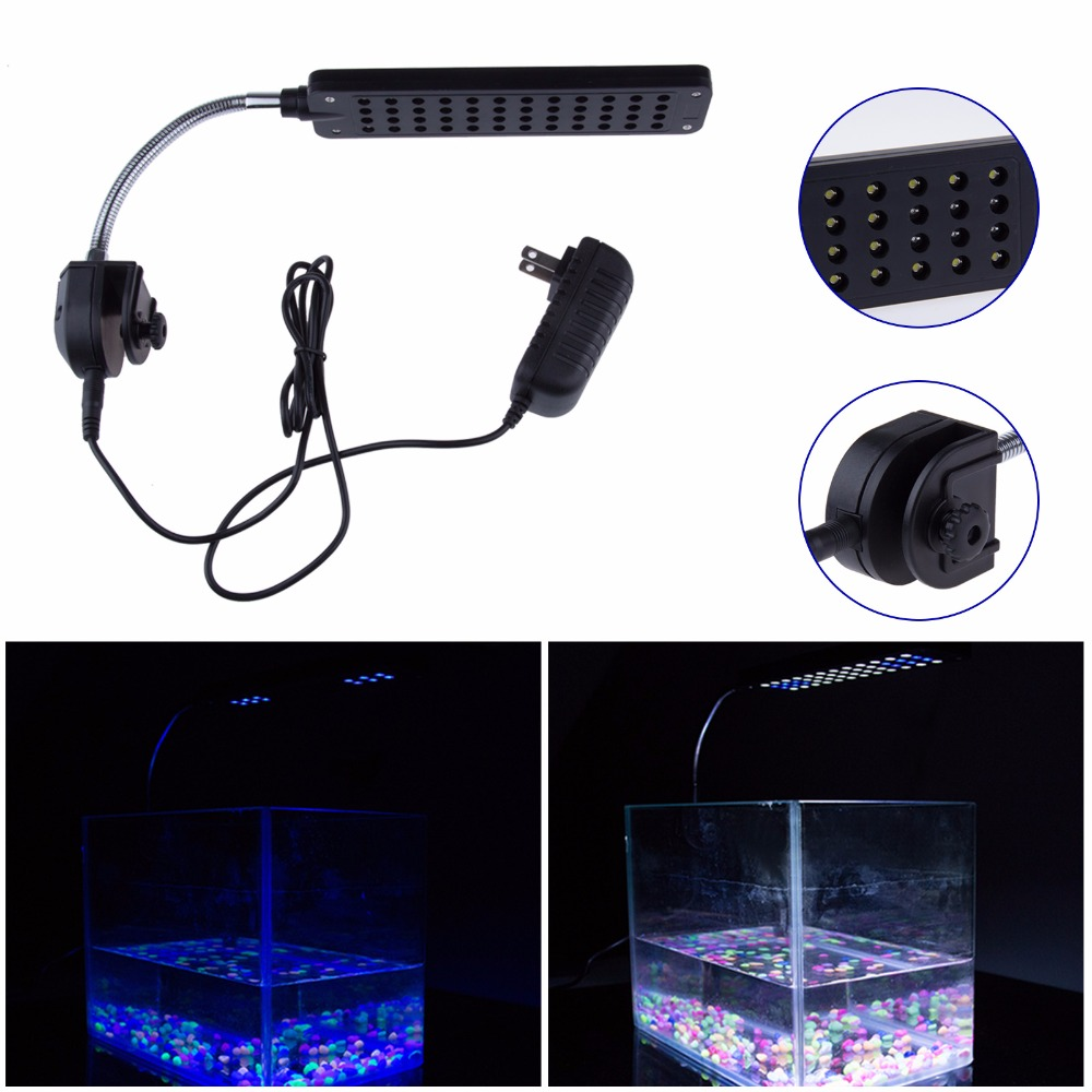 Fish tank queensland - 12v 4w 48led Clip On Led Aquarium Light Lamp 2 Modes For Coral Reef Fish With Eu Au Uk Us Plug Fish Tank Ornament Lighting