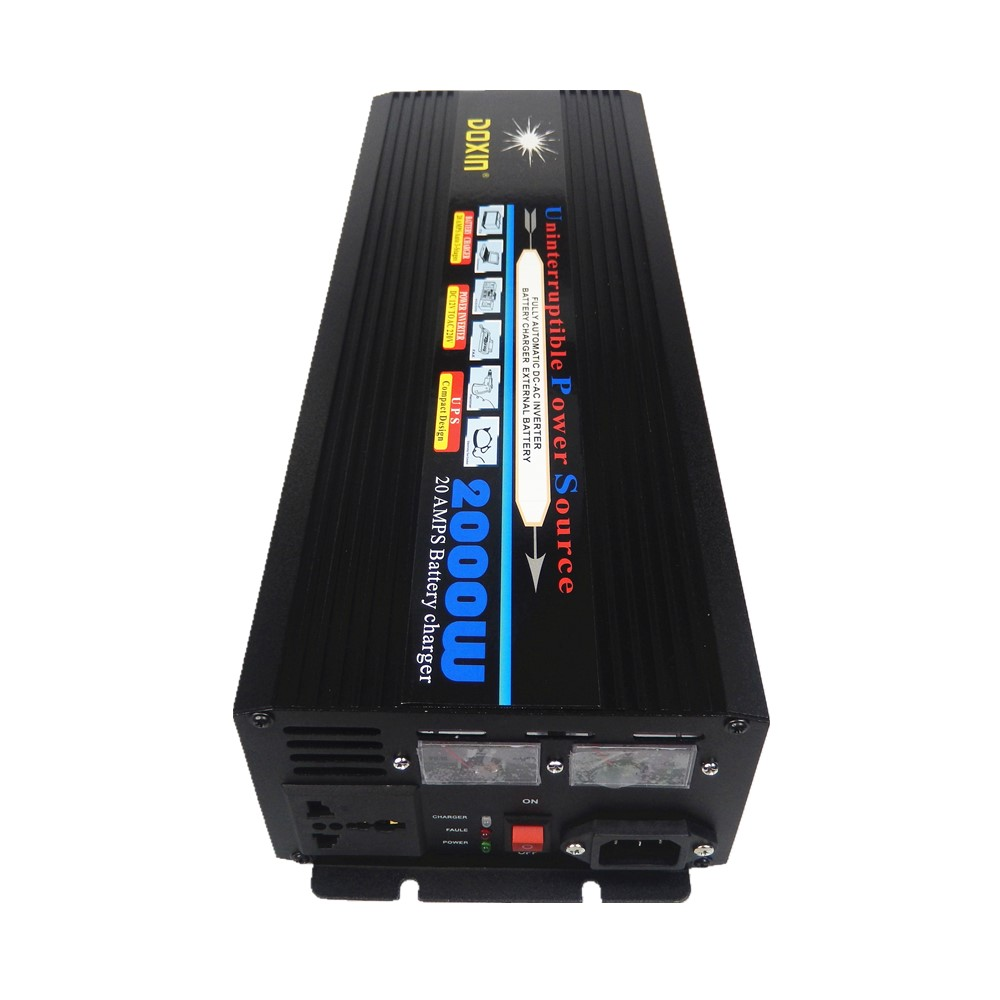 DC to AC UPS 2000W 12V 220V (4000W Peak)Power Inverter 2000W With Battery Charger icharger 4010duo multi chemistry dc battery charger 10s 40a 2000w