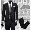 2017 Британский стиль slim костюмы мужской multi-color one button blazer костюм