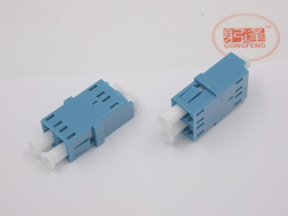 10pcs LC SM Duplex Adapter with no ear and metal Optical Fiber Connector Flange