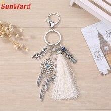 Dreamcatcher Feather Tassel Keychain Bag Handbag Ring Car Key Pendant Delicate Fashion Gift Women