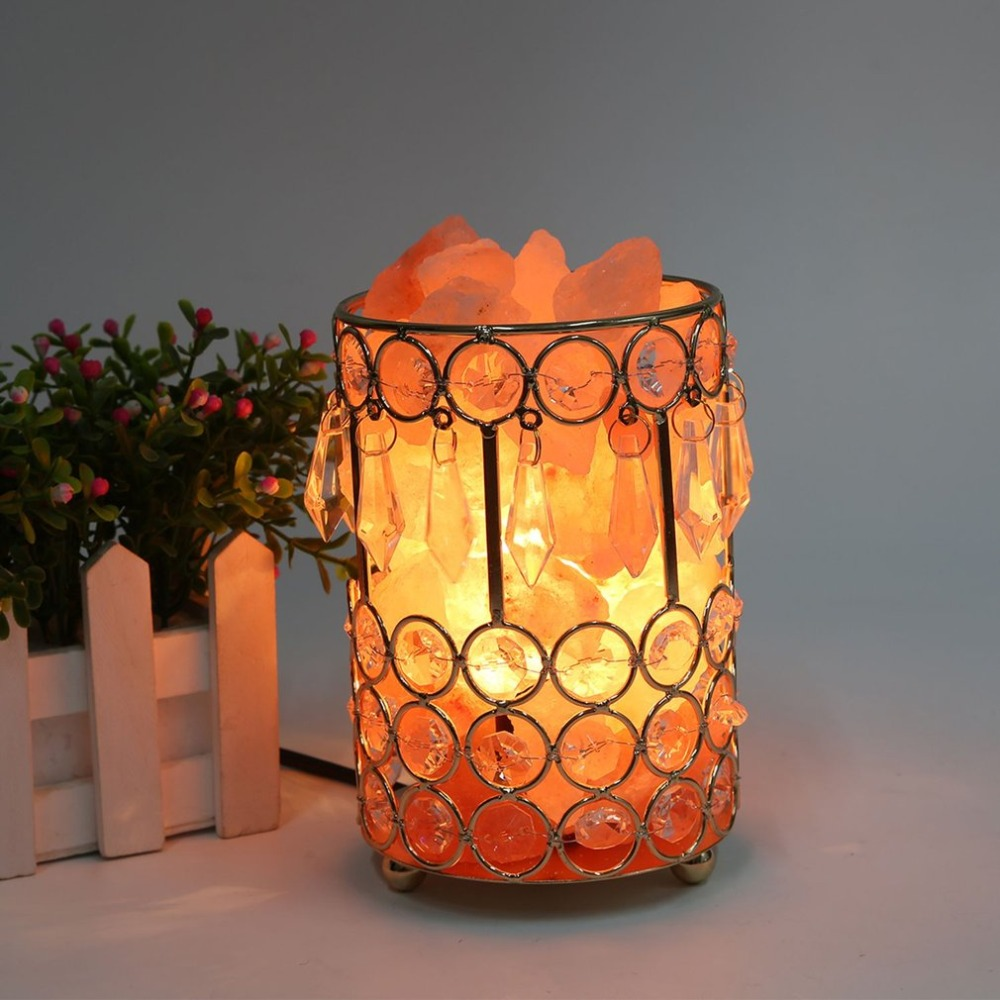 ICOCO Healthy Life Himalayan Natural Crystal Salt Light Home Bedroom Night Lamp Air Ionizer Purifier Air Purifying Salt Lamp icoco hot sale natural hand carved crystal salt light atmosphere night light for bedroom home decor birthday xmas gift wholeale