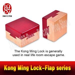 Quarto escapar adereços kongming bloqueio aleta serive caixa secreta de reposição de jxkj1987 para o jogo da vida real prop aventureiro jogo
