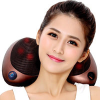LaGuerir Vibrating Kneading Neck Body Massager Hammer Pillow Infrared Shiatsu Electric Shoulder Back Massage Massages Car/Home