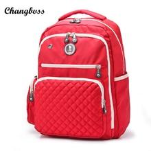 Профессиональный пеленки рюкзак для мамы большой Ёмкость Женщины Путешествия нейлон Рюкзаки с салфеткой карман Школьные ранцы для подростка